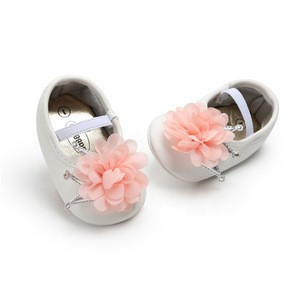 Cheap baby shoe party pure color toddler kid Evening dress shoe for baby with flower and crown