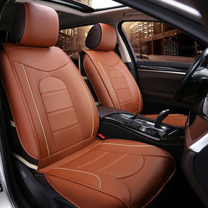 Cheapest  Universal leather Orange Car Seat Cover