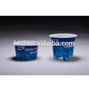 Custom logo thin-wall round 80 ml IML packaging pp plastic yogurt cup