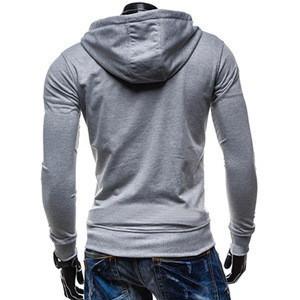 Custom men sweatshirt full zipper hoodies