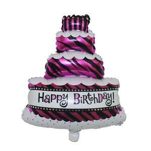 Custom shape Cake Aluminum Helium Balloon Children's Birthday Decoration Baby Shower Party Supplies Foil Balloons