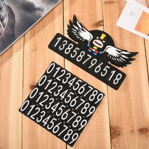 Custom soft PVC material cheap auto car license plate/cute cartoon rubber car number plate