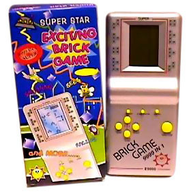Electronic handheld brick game player
