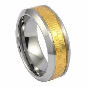 Gold foil inlay finger accessories ring