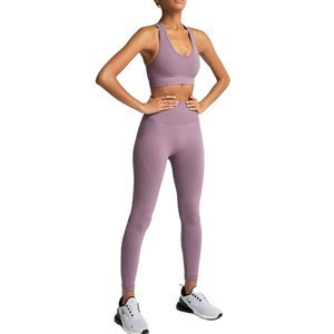 Gym Workout Outfit Yoga Sets Running Fitness Clothing Leggings Crop Top Sports Wear 2020Women