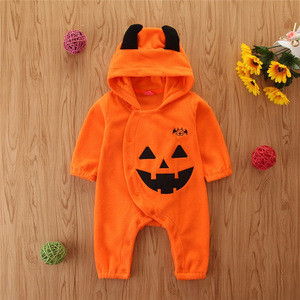 Halloween winter long sleeve monster costume jumpsuit with hat baby girls boys romper vetements pour bebes