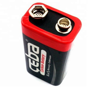 High Quality Black Dry Battery 6F22 9 Volt Carbon Zinc Cell Battery