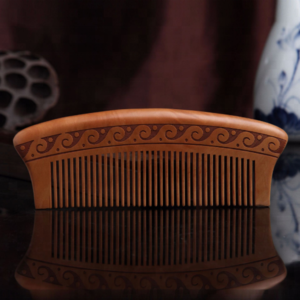 High quality classical Double-sided carved Peach wood comb fashion hair comb wholesale