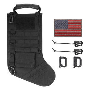 Hot sale Christmas Tactical Stocking with molle
