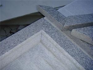 Hot sale grey granite window frame,granite window sill cover