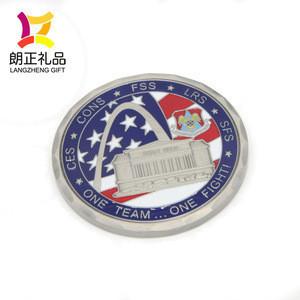 Hot sale perfect custom gold metal enamel coins as souvenir