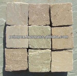 Indian Buff Sandstone Cobbles