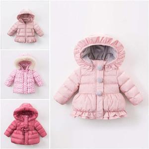 Lovely baby down coat girl kids winter jacket
