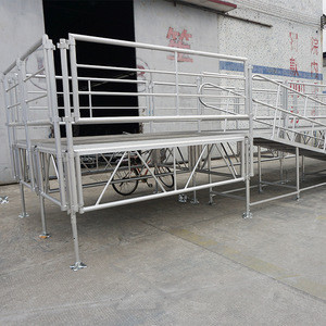 Manufacturer Supply Stage Stair Railing with Rails