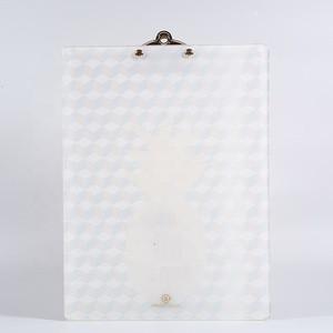 Office supplies metal clip acrylic folding clipboard folder writing board