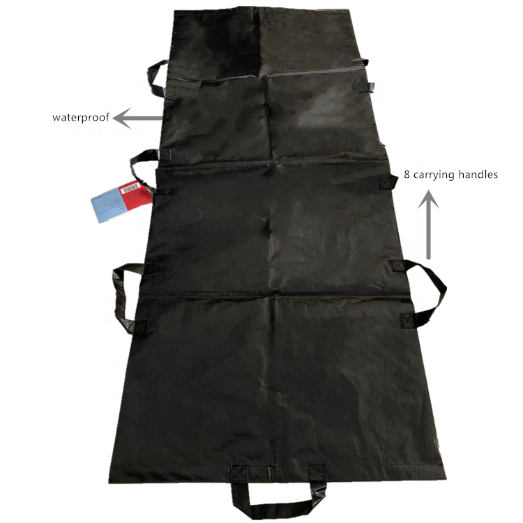 Osgoodway 2020 China Wholesale Waterproof Disposable Biodegradable Funeral Dead Body Bag with 8 carrying handles Hold 130kgs