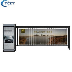 Outdoor used car parking ad screen display safety barrier