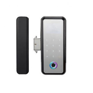 Password single double door free opening smart electronic access control lock remote control glass door fingerprint lock