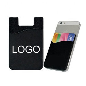 Self Adhesive Silicone Rubber Cell Phone Credit Card Holder