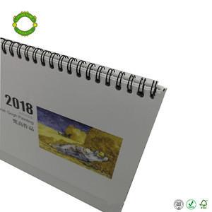 Sublimation custom 2018 desktop calendar cardboard paper calendar