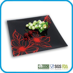 Tableware silk screen glass dish