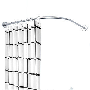 Telescopic half circle stainless steel bendable corner curved oval shower curtain rod