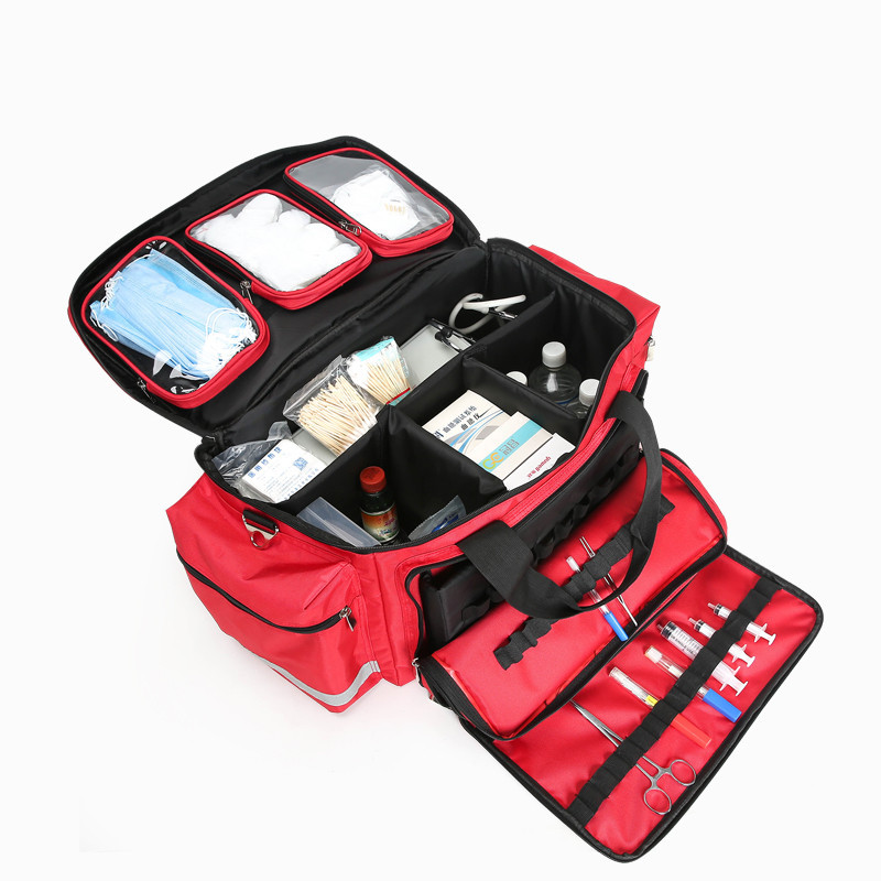 The medical device bag the first aid kit with removable pockets