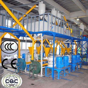 Tire Shredder Machine / Tire Crushing Project /Rubber Powder Price