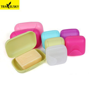 Travelsky Bathroom accessory portable hotel soap boxes eco friendly plastic travel soap dish holder