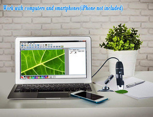 USB Digital Microscope 1-1000X Magnification Zoom 8-LED Lights 2.0MP HD Lens Work with Windows-Linux-Vista- Android Phones(OTG)