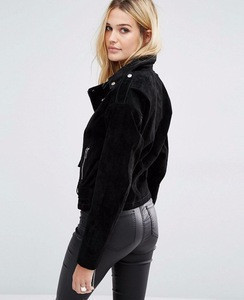 women mini motorbike leather jacket for ladies,	Best Quality Women Wear Suede Faux Leather Lady Jacket