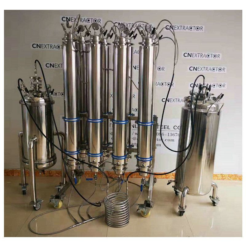 Import Stainless  steel   30LB  Closed  Loop  Botanical extractor  BHO  essential oil extraction  equipment from China