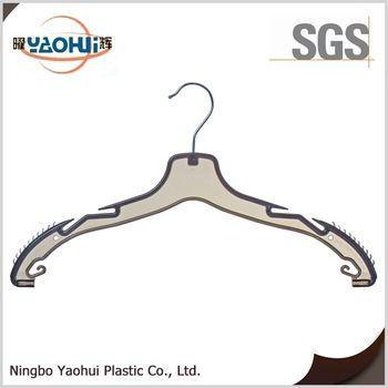3431-1 new style brand hanger long hanger metal hook plastic hanger for clothes coat
