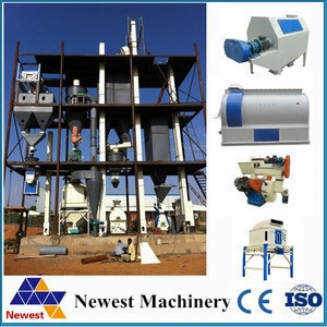 10t/h automatic poultry feed making machine/chicken feeds product line/pellet machine for animal feed