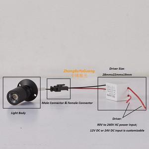 110V 220V 1w driver rgb lighting SPOTLIGHT LED JEWELRY showcase led spotlight lanscap mini spotlights