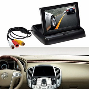 """2 video input 4.3"""" Foldable HD Color TFT-LCD Monitor screen fits all car Reversing camera and CCTV camera"""