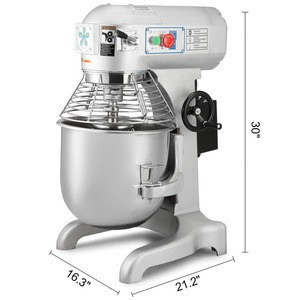 20 Quarts Commercial Heavy Duty Stainless Steel 3-Speed Stand Food Dough Mixer