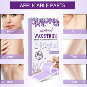 2020 New Arrival Free Sample Factory Non-woven Disposable Hair Removal Body Use Depilatory Waxing Strips Portable Wax Strips