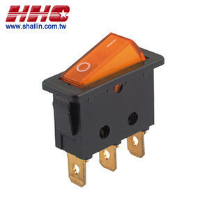 3 Pin SPST on-off 250V 10A illuminated rocker switch