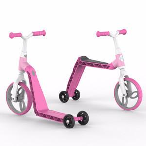 3 wheels 2 in 1 multi-function kids scooter & balance bike children bicycle