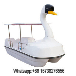 4 people water boat paddle/ Duck /Swan pedal boat,human powered watercraft for sale