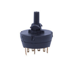 6 position round rotary switch with (pulse) for small household appliances