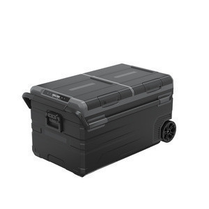 Alpicool TWW75  ice making double zone anti vibration DC portable car fridge with wheel and handle for camping outdoor