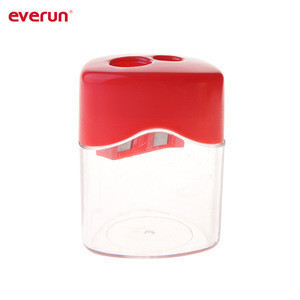 Assorted color pencil sharpener with double holes