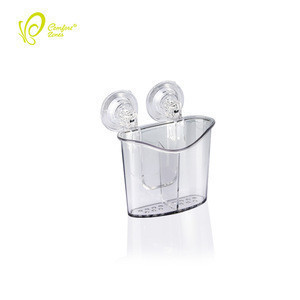 Available Kitchen Clear Strong Suction Cutlery Holder Plastic Cutlery Organizer with Large Stock