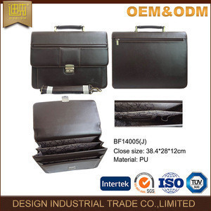 Bag manufacture cheap messenger fashion executive men leather briefcase