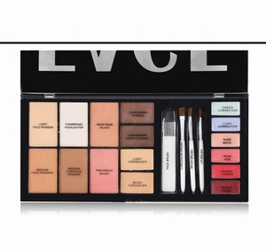 Beauty cosmetics palette set 16 color palette  brow highlighter blush face powder lip gloss concealer makeup kit