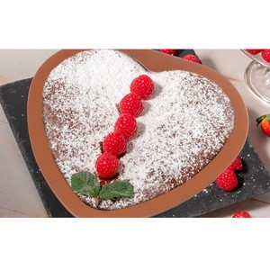 Copper Bakeware Set 2 Pack Cookie Sheet and Heart Shaped Pan