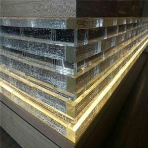 Crystal glass brick transparent