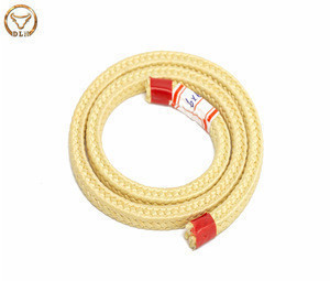 Heat resistance flame retardant square Para-aramid fiber rope wrapped on ceramic rollers